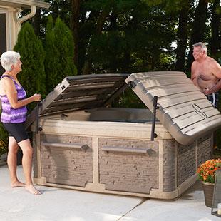 Couple Viewing New Durasport Tub Features