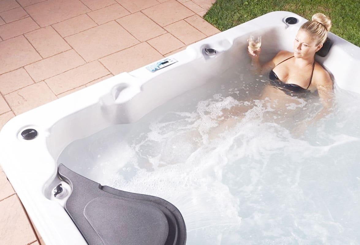 Woman Enjoying Hydrotherapy