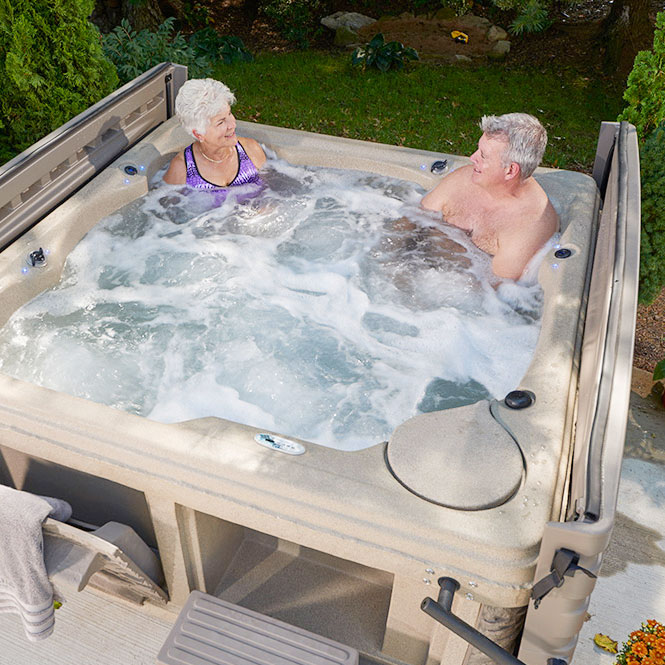 Couple Using G-2 Legend Luxury 36 Tub