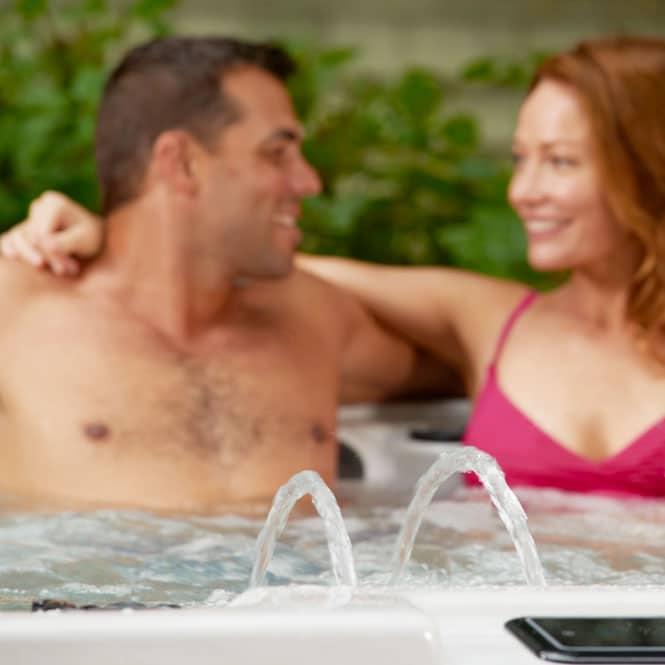 Couple Enjoying Premium S40 Tub