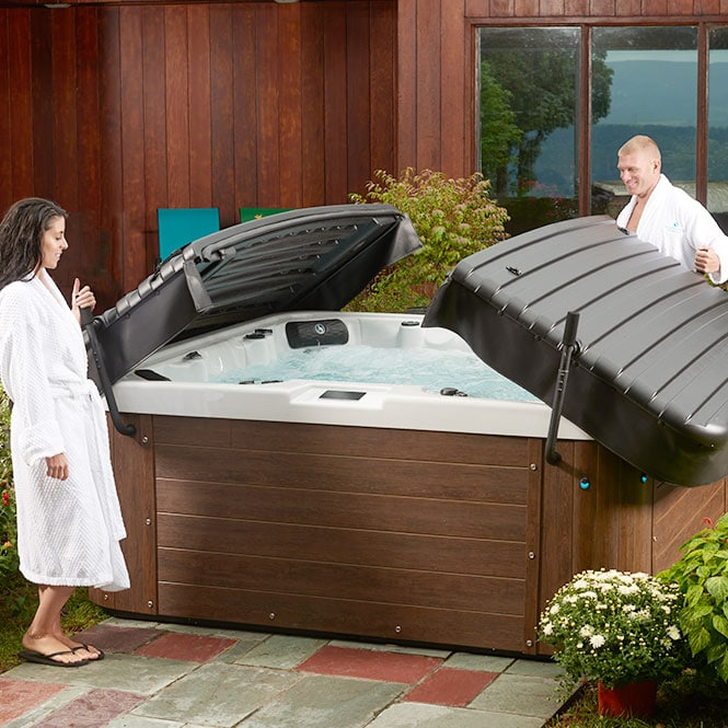 Couple Opening Their Sl60 Hot Tub