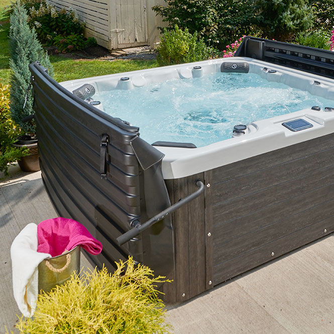 Summit Series Black Hot Tub