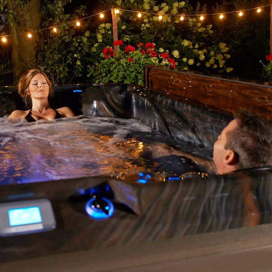 Couple Sleeping In A Hot Tub